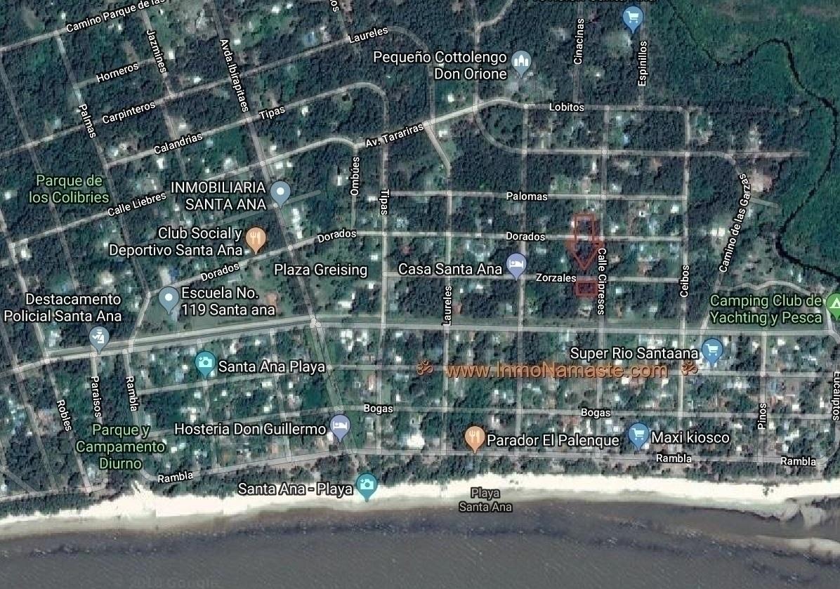 VENTA - Excepcional Lote en Esquina de 700 m2 en Santa Ana en Santa Ana  | Inmobiliaria Namasté | Colonia, Uruguay