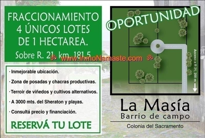 VENTA - La Masía, Barrio de Campo, Lote 1 de 4 en Colonia del Sacramento  | Inmobiliaria Namasté | Colonia, Uruguay